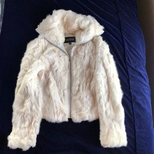 Guess 100% Rabbit Fur Coat